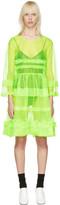 Molly Goddard Green Pleated Patty Dress