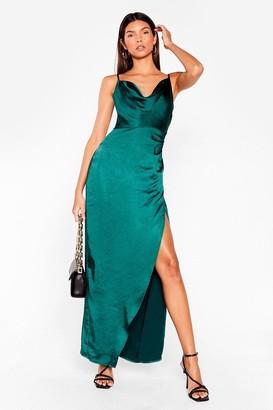 Nasty Gal Womens cowl midi dress - Green - 6