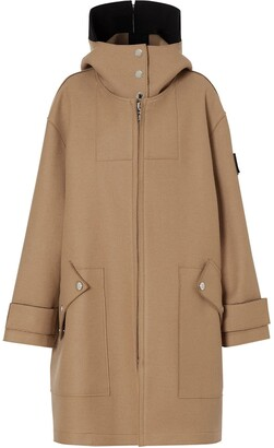 Burberry Logo Applique Technical Hooded Parka
