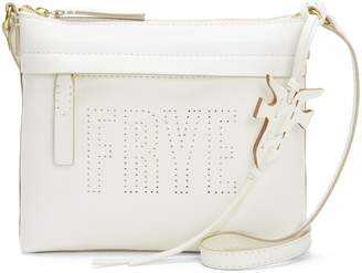 Frye Carson Logo Perf Zip Crossbody Leather Bag
