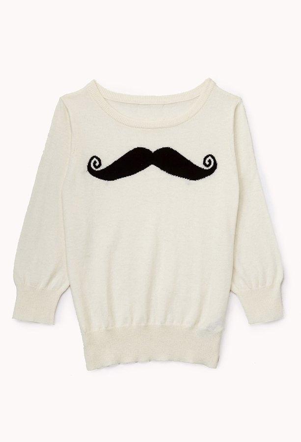 Forever 21 Girls Mustache Sweater (Kids)