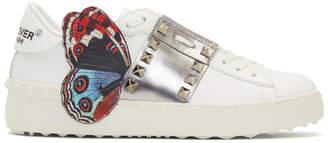 Valentino White Undercover Edition Garavani Open Rockstud Sneakers