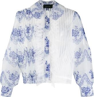 Simone Rocha asymmetric sheer blouse