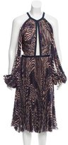 J. Mendel Printed Chiffon Dress w/ Tags