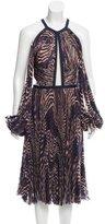 J. Mendel Printed Chiffon Dress w/ Tags