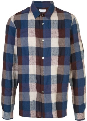 John Elliott Sly straight-hem plaid shirt