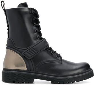 Moncler Calypso lace-up combat boots