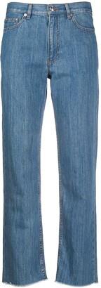 A.P.C. Frayed Straight-Leg Jeans