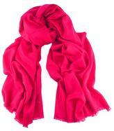 Black Raspberry Pink Handwoven Cashmere Shawl