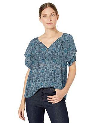 NYDJ Women's Short Sleeve Peasant Blouse