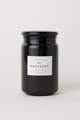 H&M Scented candle in a glass jar