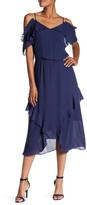 Parker Cold Shoulder Ruffle Dress