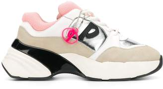 Pinko panelled sneakers