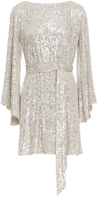 Jay Godfrey Sequined Mesh Mini Dress