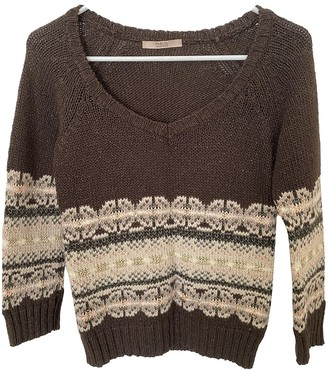 Valentino Red Brown Wool Knitwear for Women