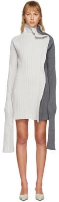 Christina Seewald SSENSE Exclusive Grey Split Dress Sweater