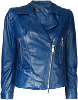 Sylvie Schimmel zip up jacket - women - Lamb Nubuck Leather - 42