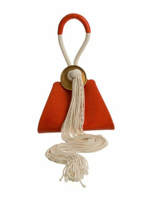 Marni Monile Triangle Lizard Frame Bag Orange