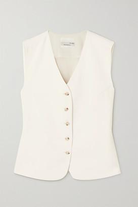 Bouguessa Liezl Twill Vest - White