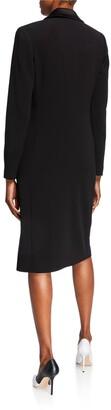 Rickie Freeman For Teri Jon Double-Breasted Tuxedo Coat Dress