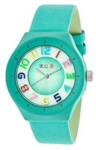 Crayo Unisex Atomic Turquoise Genuine Leather Strap Watch 36mm