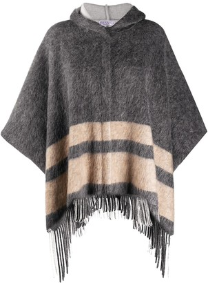 Brunello Cucinelli Fringed Hooded Cardigan