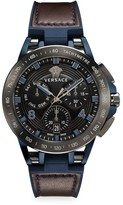 Versace Tech Stainless Steel, Leather & Rubber Strap Watch