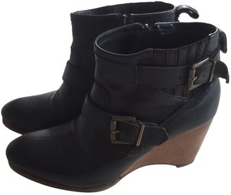 Vanessa Bruno Black Leather Ankle boots