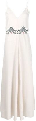 Forte Forte Embroidered Detail Maxi Dress