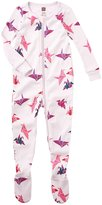 Tea Collection Paper Crane Footed PJ (Baby) - Pale Thistle - 6-12 Months