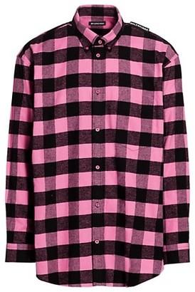 Balenciaga Gingham Tab Shirt