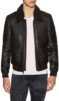 BLK DNM Men's Leather Bomber Jacket