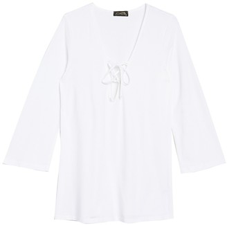 Athena Front Lace-Up Cover-Up Tunic