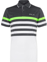 RLX Ralph Lauren Striped Stretch-Jersey Golf Polo Shirt