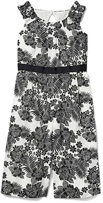 Janie and Jack Floral Romper (Toddler/Little Kids/Big Kids) (Multi) Girl's Jumpsuit & Rompers One Piece