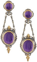 Konstantino Erato Mixed Amethyst Double-Drop Earrings