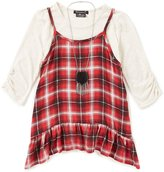 Xtraordinary Big Girls 7-16 Plaid/Solid Top Set