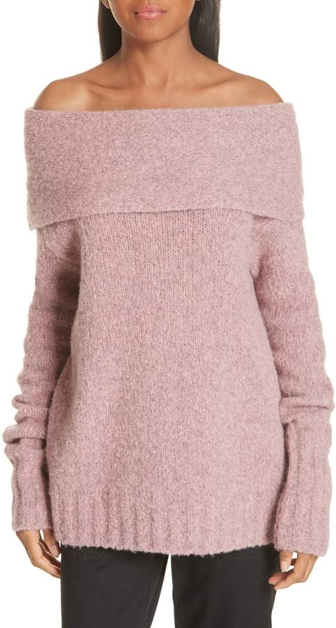 Vince Off-the-Shoulder Alpaca Blend Sweater