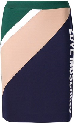 Love Moschino Colour Block Pencil Skirt