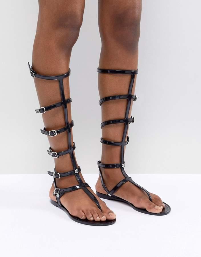 1e056718aae Black Jelly Sandals - ShopStyle UK
