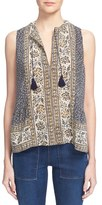 Sea Women's 'Sabine' Scarf Print Sleeveless Silk Top