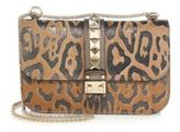 Valentino Leopard Medium Leather Rocklock Satchel