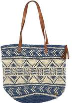 Billabong Women's East of Dover Straw Tote with Vegan Leather Straps