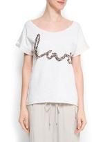 MANGO Crystal embellished sweatshirt
