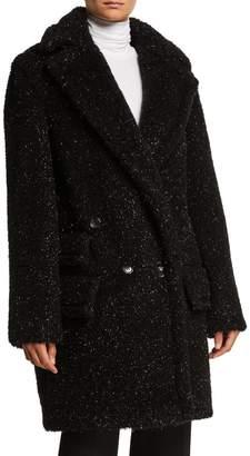 Max Mara Metallic Specked Teddy Coat