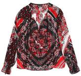 Just Cavalli Printed Cady Blouse