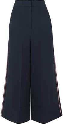 Roksanda Hasani Cropped Striped Cady Wide-leg Pants - Navy