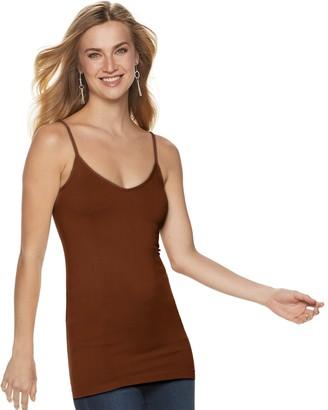 Apt. 9 Women's Essential Reversible Neckline Seamless Camisole