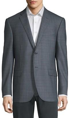 Corneliani Birdseye Academy Wool Silk Suit Jacket