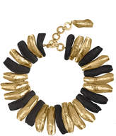 Josie Natori 24K Goldplated Brass With Darkwood Necklace